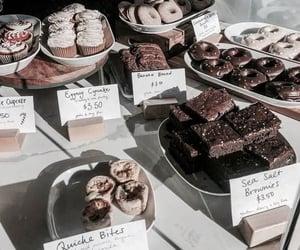 food, sweet, and brownies image