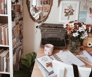 books, deco, and fall image