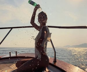 boat, summer, and girl image