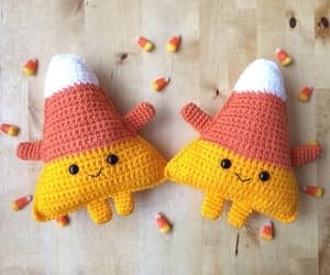 candy, cute, and candy corn image