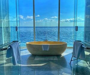 home, bathroom, and sea image