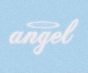 angel, blue, and twitter header image