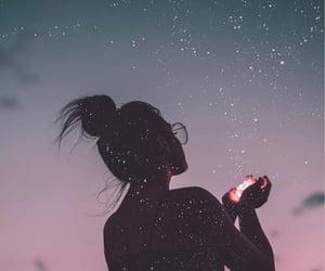 girl, stars, and photography image
