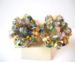 etsy, statement jewelry, and cluster rhinestone image