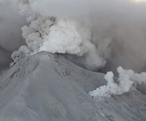 volcano, pale, and nature image