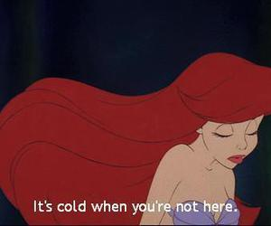 ariel, disney, and cold image