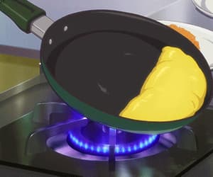 breakfast, gif, and anime scenery image