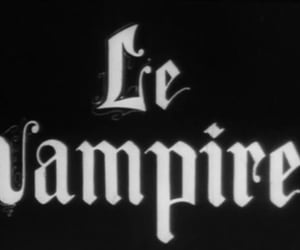 vampire, black and white, and le vampire image