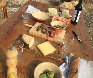 bread, cheese, and country image