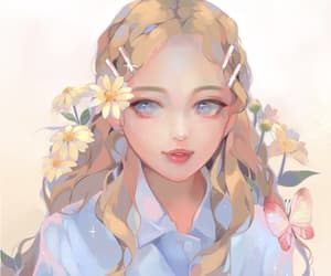 anime, art, and blonde image