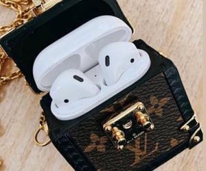 Louis Vuitton and airpods image