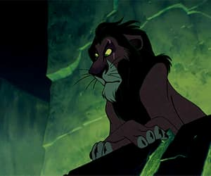 gif, lion king, and scar image