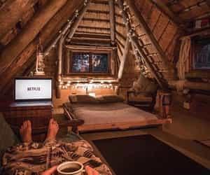 home, netflix, and bedroom image
