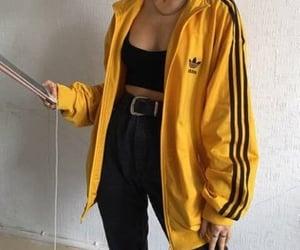 fashion, adidas, and yellow image
