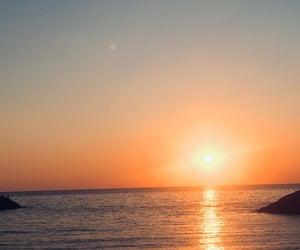 beach and sunset image