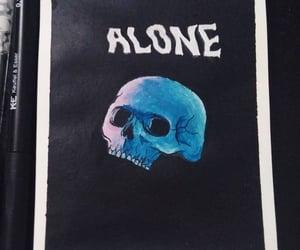 alone, art, and calavera image
