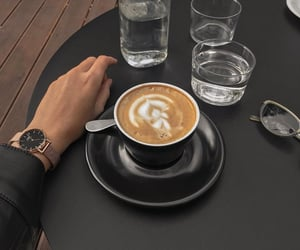 autumn, black, and cafe image