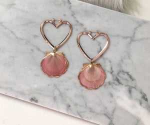 pink, earrings, and jewelry image