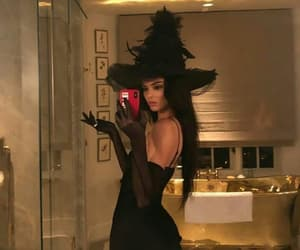 kendall jenner, Halloween, and witch image