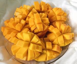 fruit, mango, and yellow image