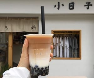 drink, bubble tea, and coffee image