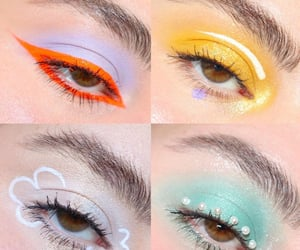 beautiful, colorful makeup, and euphoria image