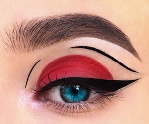 eye, makeup, and liner image