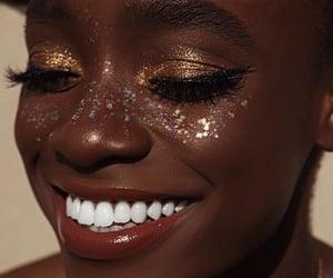 girl, makeup, and shine image