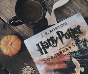 harry potter, book, and coffee image