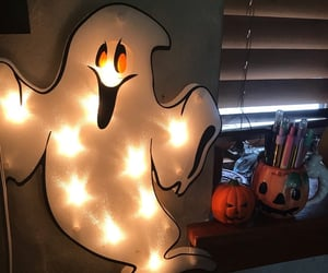 decorations, ghost, and Halloween image