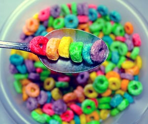 food, cereal, and colorful image