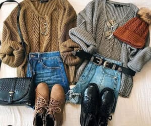 chunky, knit, and neutrals image