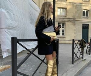 boots, chanel, and gold image