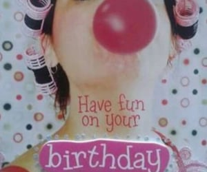 birthday, bubble, and lady image