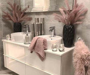 home, bathroom, and rose gold image