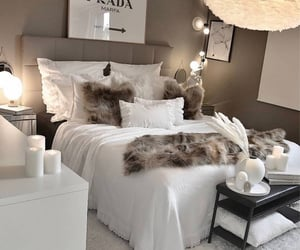bedroom decor, fur, and goals image