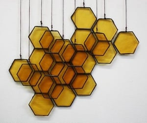 honeycomb, yellow, and hufflepuff image