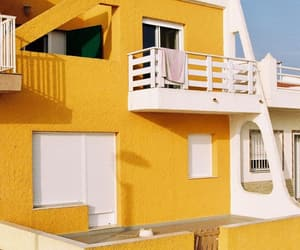 architecture, house, and yellow image