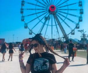 bandana, festival, and music image