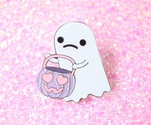 Halloween, pink, and aesthetic image
