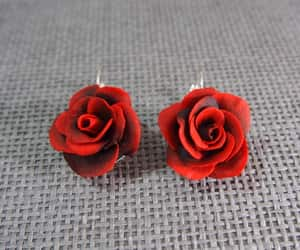 etsy, silver earrings, and gift for her image