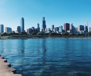 chicago, lake, and city image