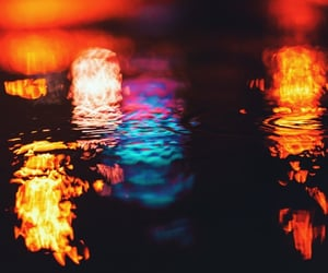 closeup, puddle, and colors image