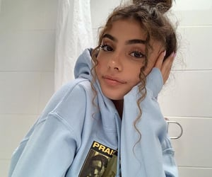 girl, beautiful, and blue image