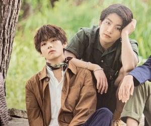 bts, jungkook, and kim taehyung image