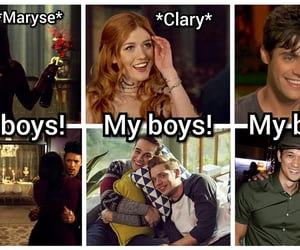 clary fray, simon lewis, and alec lightwood image