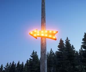 arrow, neon lights, and sky image