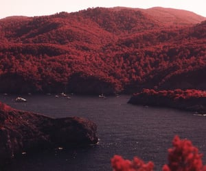 red, nature, and landscape image