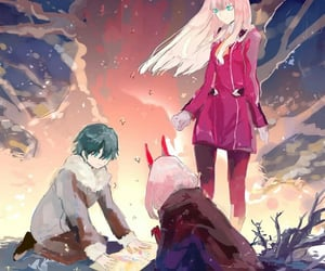 anime, kawaii, and darling in the franxx image