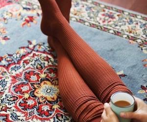 autumn, socks, and coffee image